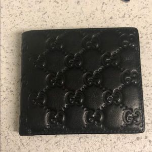 All black Gucci Wallet